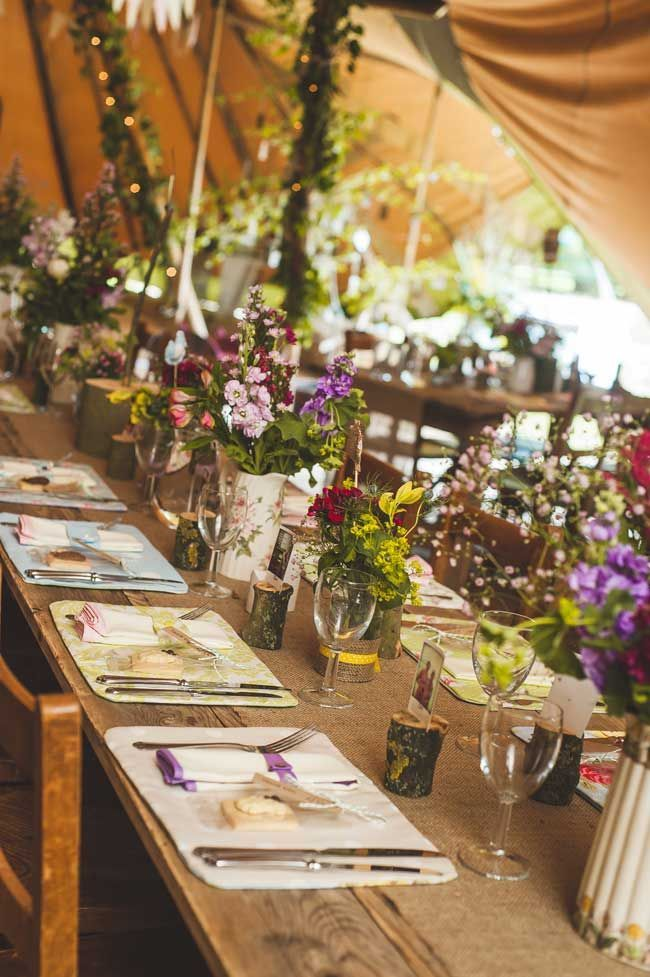Decoration table mariage rustique mariage pinterest tipi centerpieces junglespirit Image collections