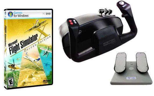 Deluxe CH Products Flight Simulator Bundle - MS Flight Sim X