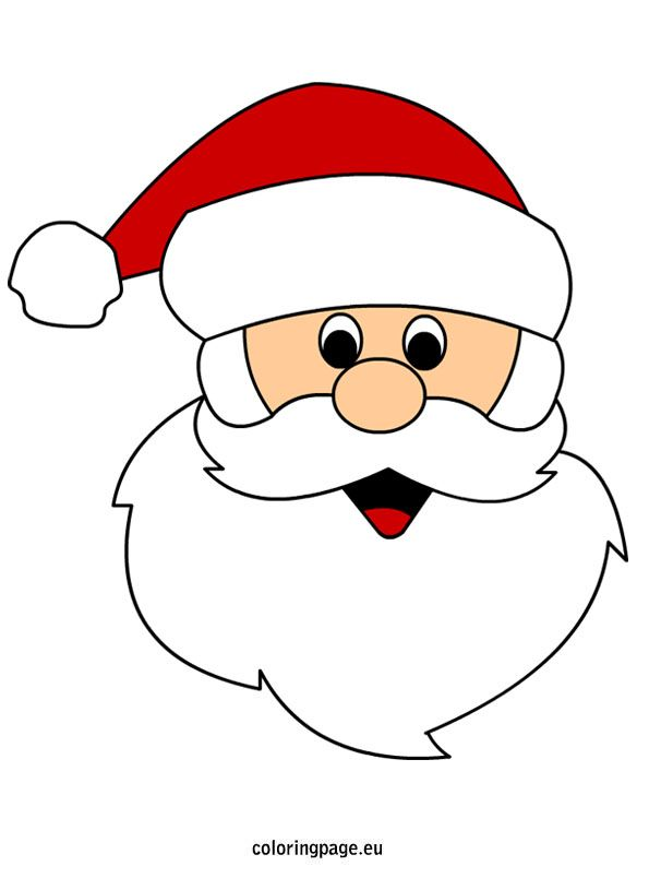 Face Coloring Page Santa Christmas