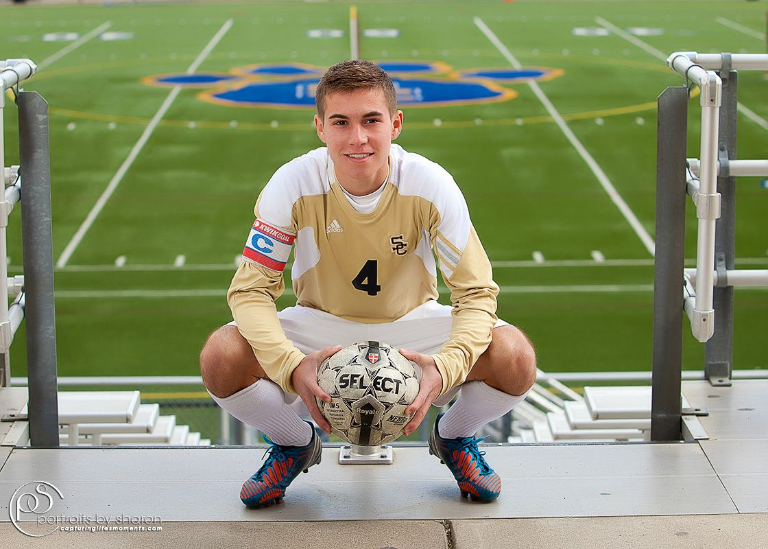 Love this idea! Male High School Soccer Player Soccer