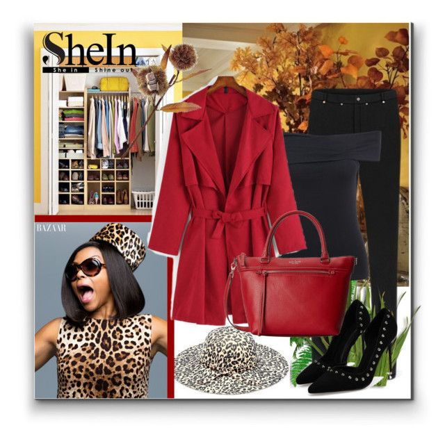 """SheIn 6"" by zenabezimena ❤ liked on Polyvore featuring косметика, Kate Spade, Sheinside и topset"
