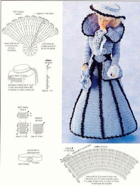 Vestiti Barbie Uncinetto Schemi Da Stampare Crochet Crochet Doll