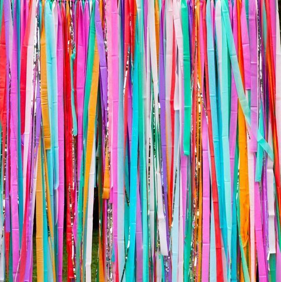 Fiesta Backdrop, Fiesta Decorations, Streamer Backdrop, Fringe Backdrop, Rainbow Fiesta, First Fiesta, Photo Booth, Cinco de Mayo
