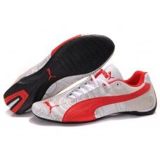 Cheap Womens Puma Engine Cat Low Shoes White-Red For Sale --- Amazing -  this site has Puma for price
