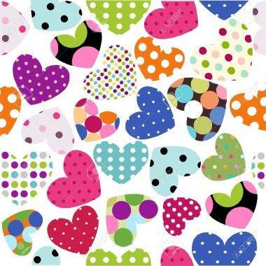 corazones de colores fondo - photo #10
