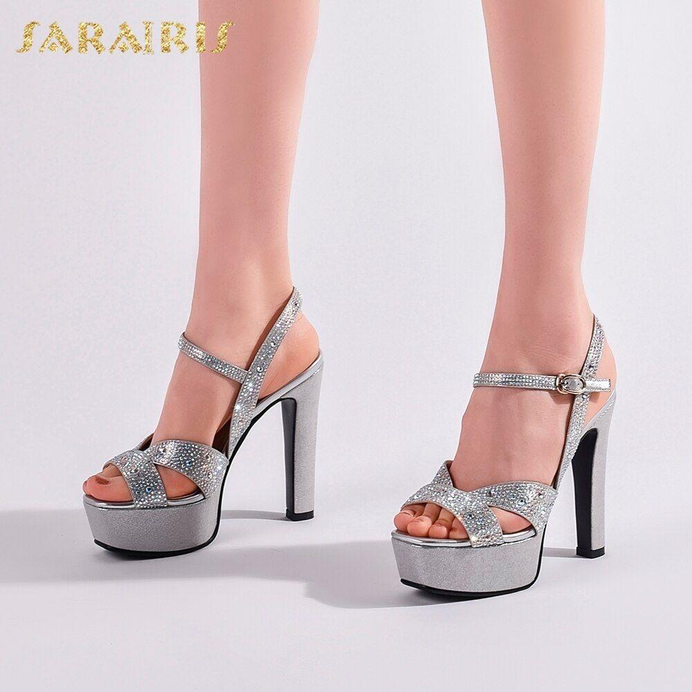 Sarairis New Arrivals 2020 High Quality Buckle Strap Shoes Woman Sandals Female Peep Toe Platform La