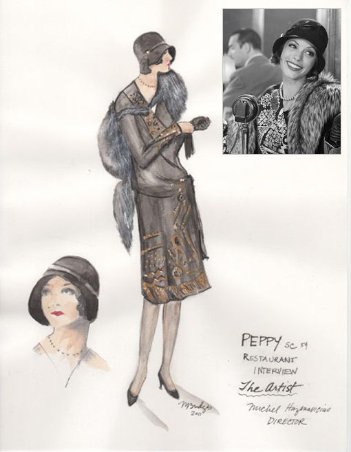 Movies Costume Design Sketch Art Costume Art Deco Fashion