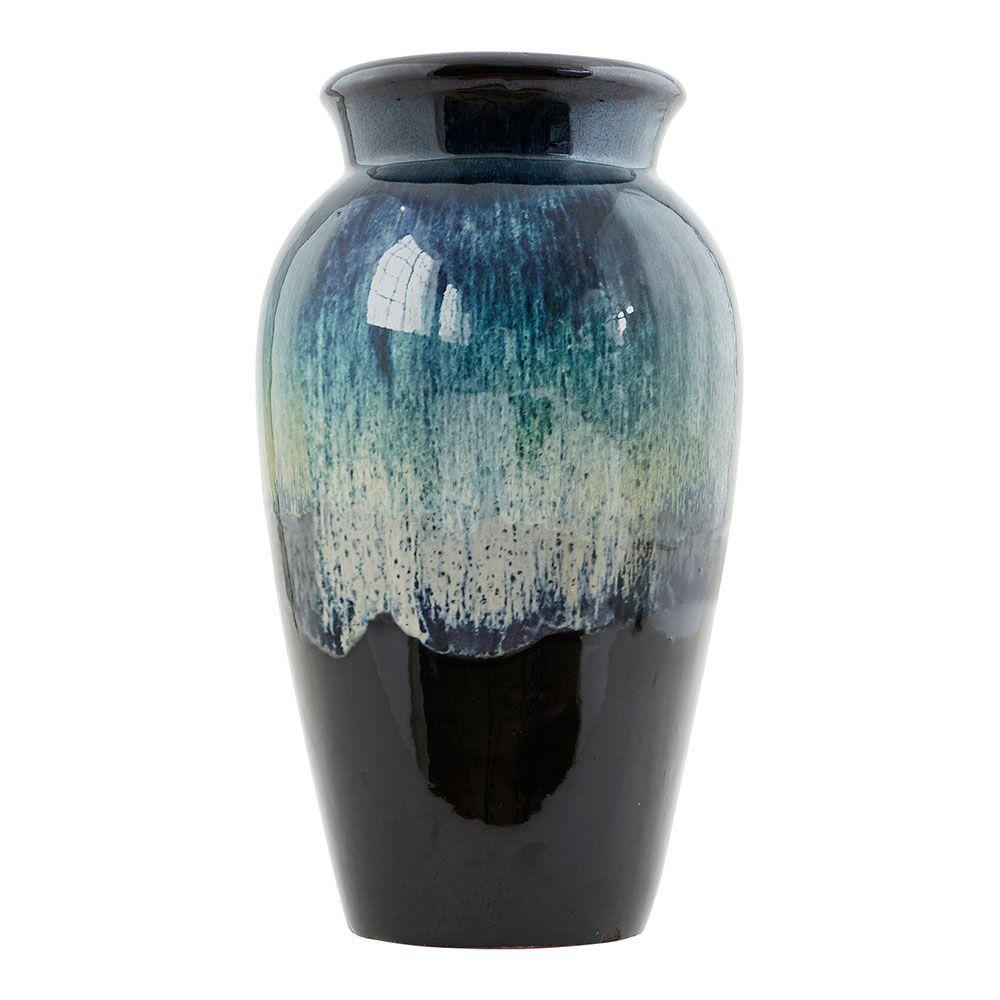 antique vase 35cm sort gr n 270 kr. Black Bedroom Furniture Sets. Home Design Ideas