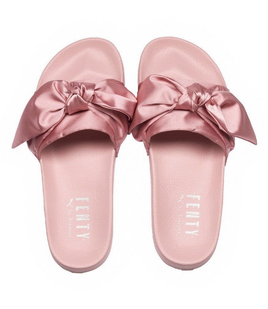 b795aed4e0fc81 Women s Silver Pink Bow Leadcat Slide