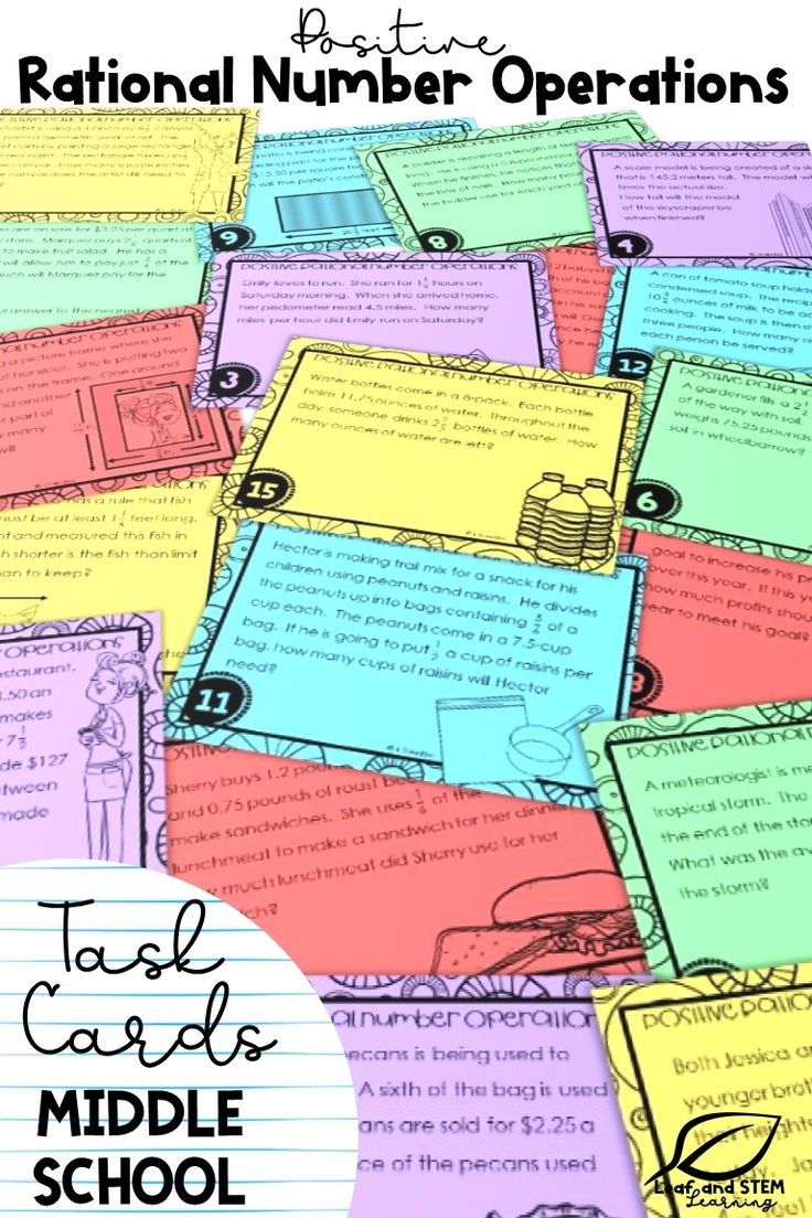 Fresh Ideas - Rational Number Operations Word Problems Task Cards Word