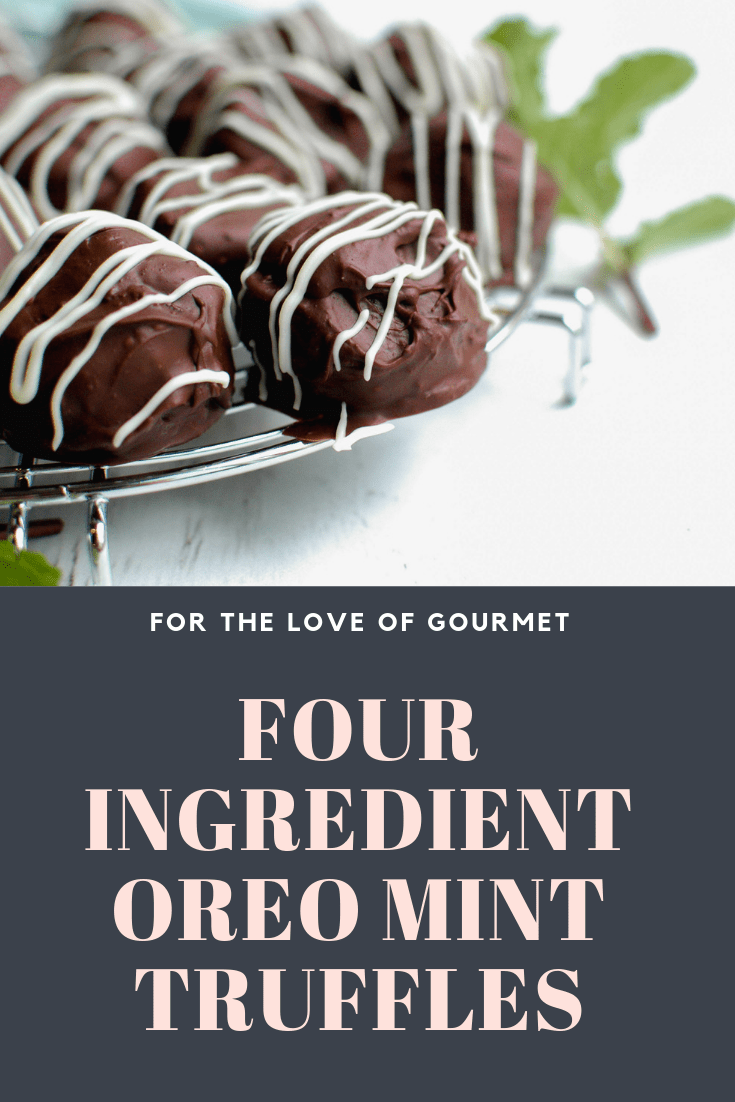 oreo mint truffles are dangerously easy to make! Just four ingredietns and you've got a treat ready to enjoy anytime. Make them anytime you're craving something sweet! They're also perfect for the holidays!