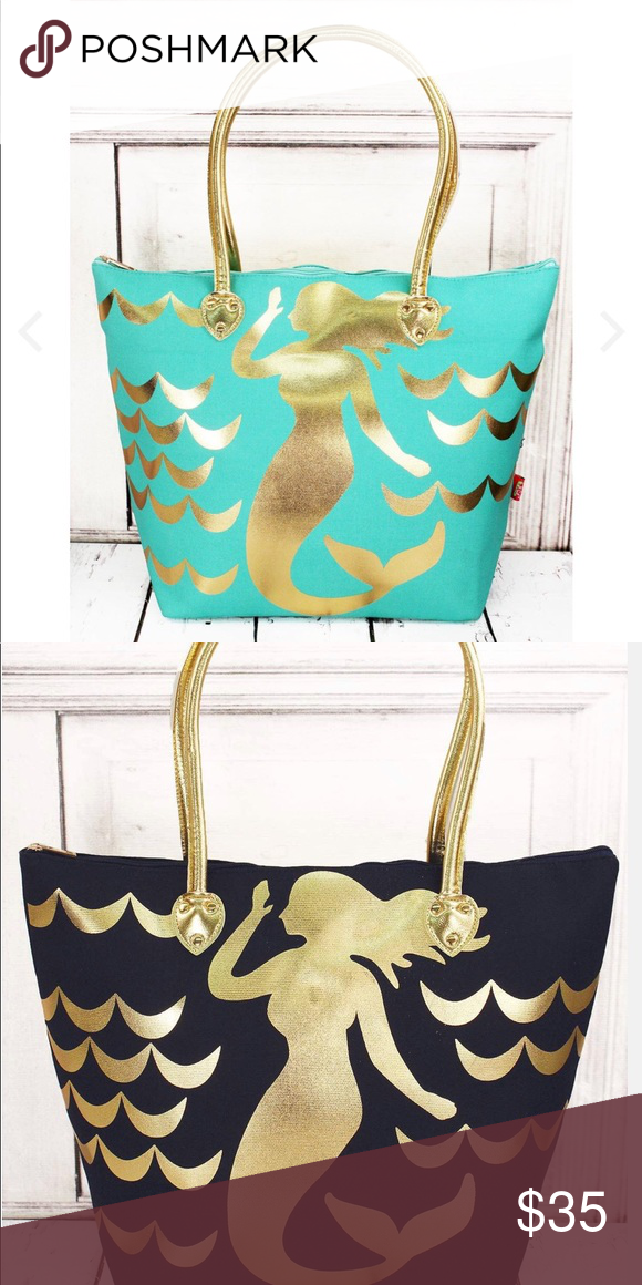 c415182347b2 Mermaid tote bag Limited stock in these cute totes only  30  Canvas  Construction Zip Top