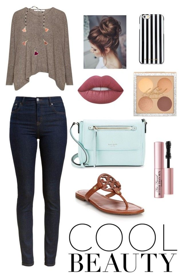"""""""Untitled #366"""" by mkhays on Polyvore featuring Barbour, Tory Burch, Kate Spade, MICHAEL Michael Kors, Lime Crime and Too Faced Cosmetics"""
