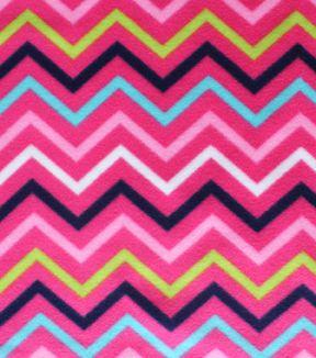 Blizzard Fleece Fabric-Katies Chevron
