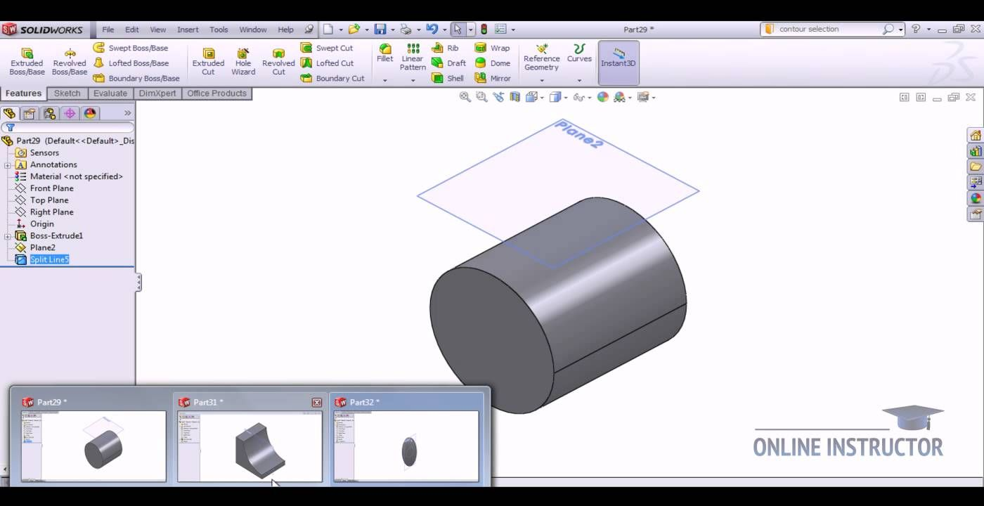 SolidWorks Tutorials: Creating Split lines | HARLYLICHUZZ