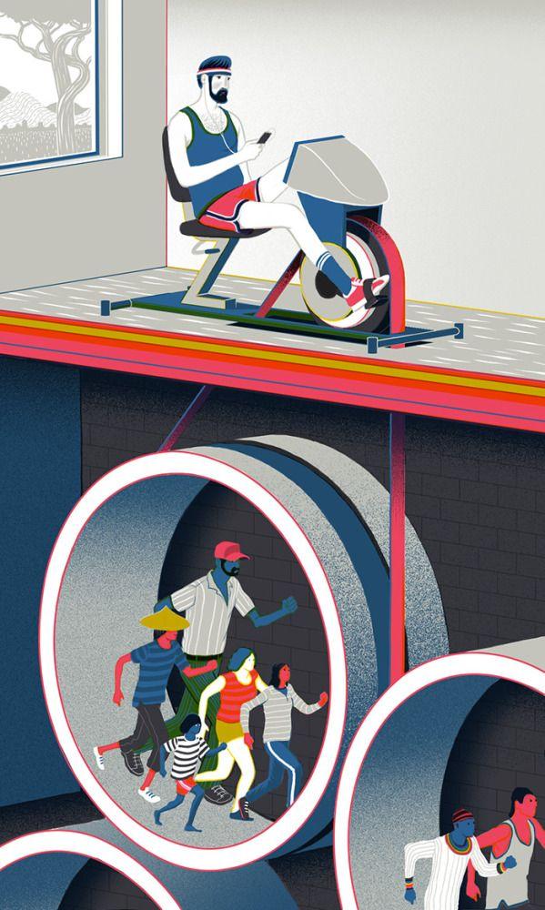 Illustrations by Sam Chivers   Inspiration Grid   Design Inspiration