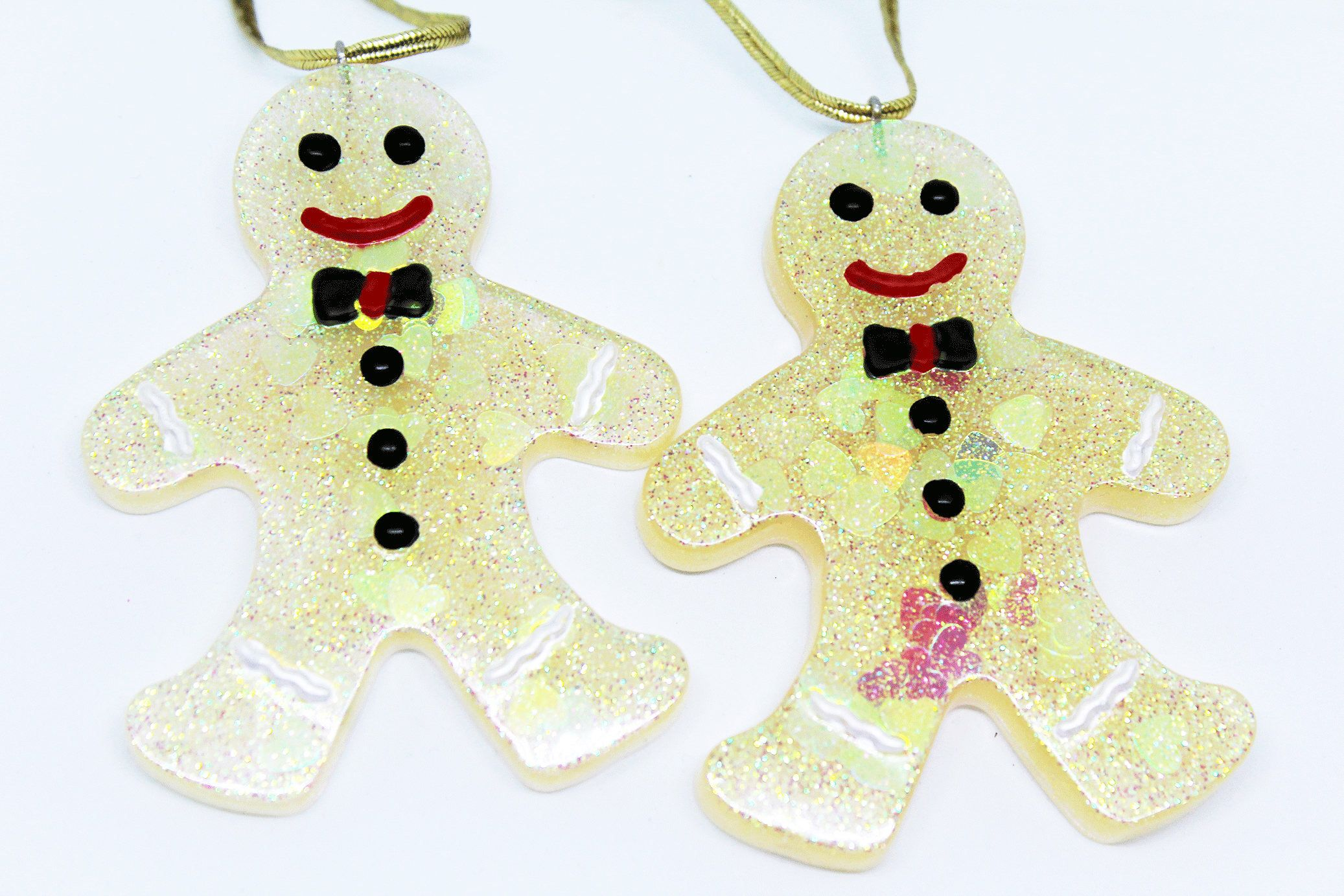 Glitter Gingerbread Men Decorations Etsy shop https://www ...