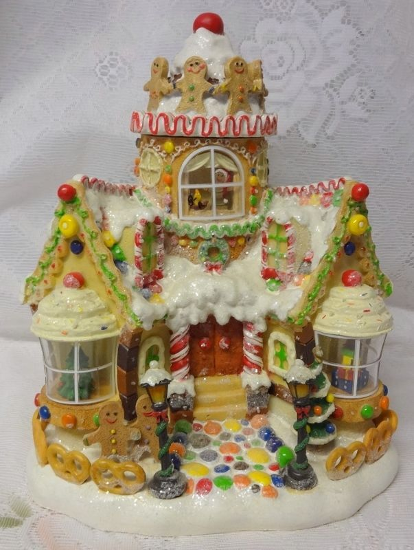 Christmas Gingerbread Candyland Toy House Village Motion Lighted Gingerbread House Christmas Gingerbread House Candy House