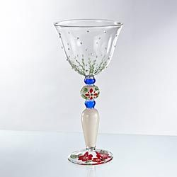 Bette's Hand-Painted Wine Glass