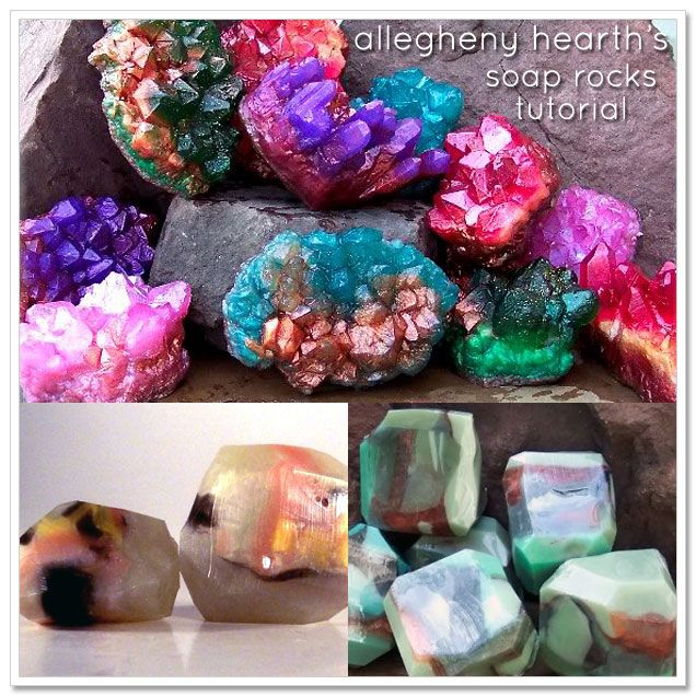 How to make soap rocks that look like gemstones. Really cool!