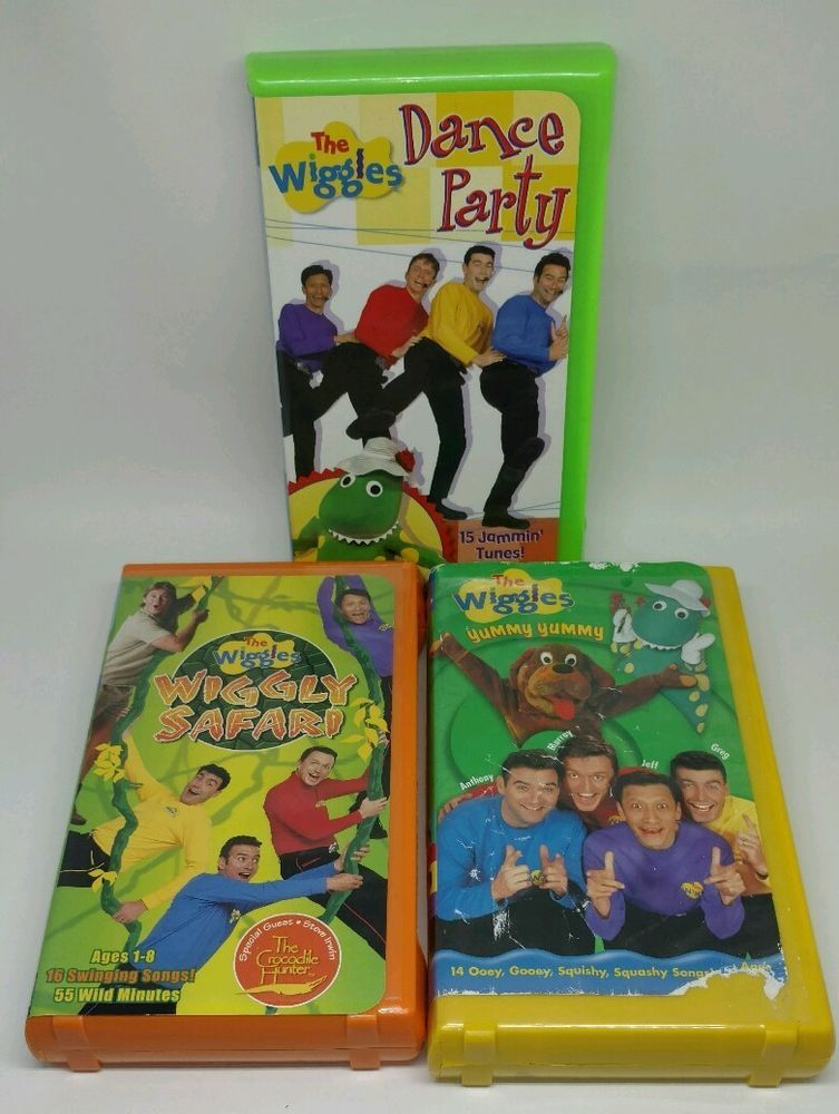 72b7850e02 The wiggles dance party / wiggly safari / yummy yummy VHS TAPES KIDS ...