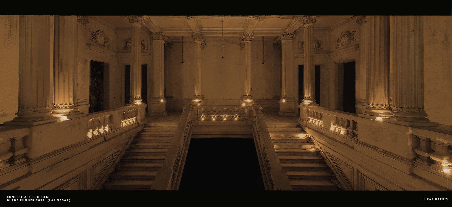 Artstation Blade Runner 2049 Las Vegas Interior Concept Lukas Harris Interior Concept Blade Runner Environment Design