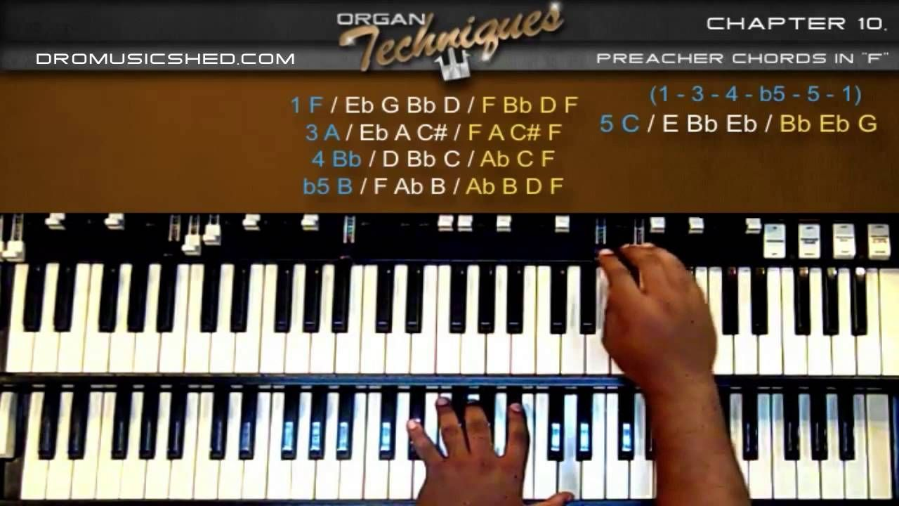 Organ Preacher Chords in F Techniques) How to play