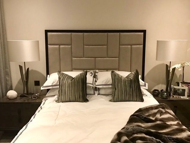 Bespoke headboard made and installed by revamp interiors interior design by camhall design consultancy