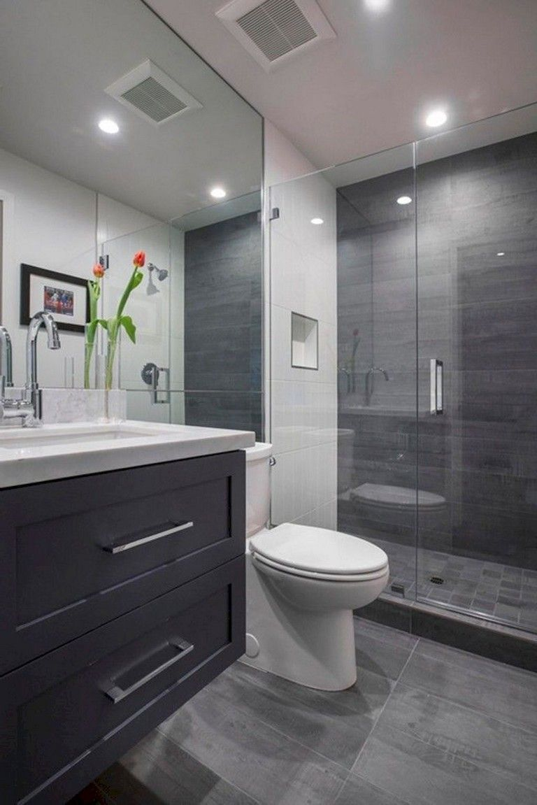 55 Beautiful Small Bathroom Ideas Remodel Cheap Bathroom Remodel Beautiful Small Bathrooms Grey Bathrooms Designs