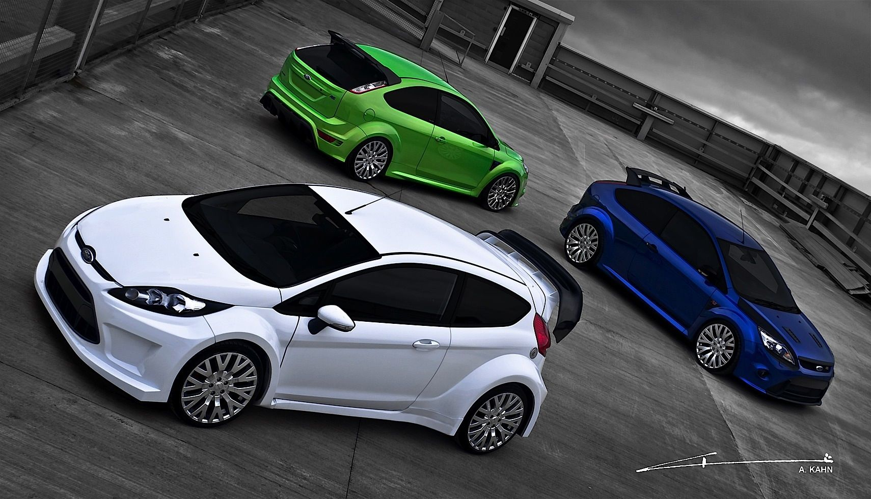 Kahn Ford Focus Rs And Fiesta St With Cosworth Wheels Released Ford Focus Rs Ford Fiesta St Ford Focus
