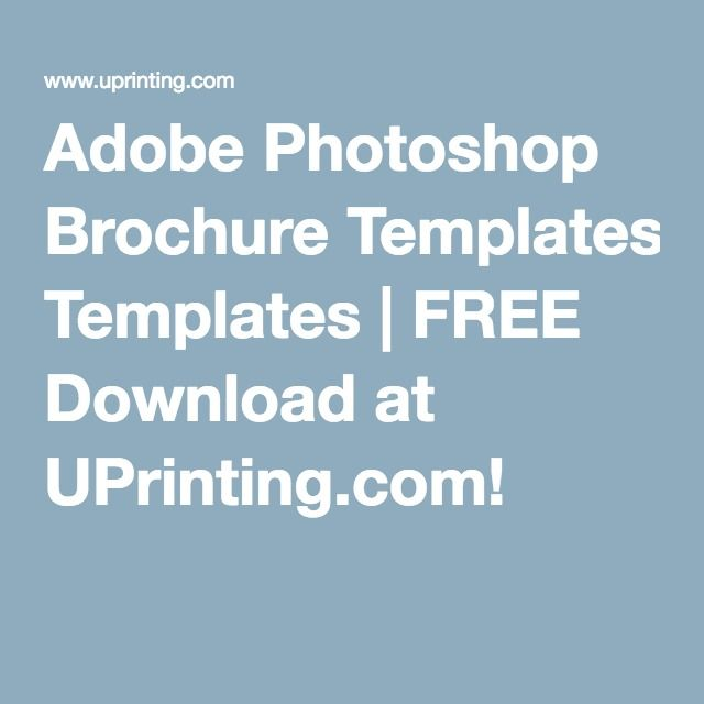 Adobe Photoshop Brochure Templates Free Download At Uprinting