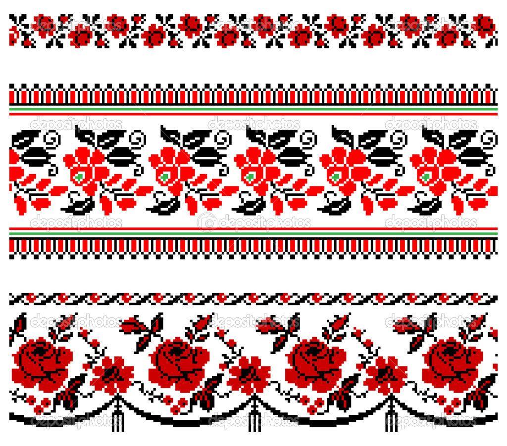 украинская вышивка крестом орнамент схема