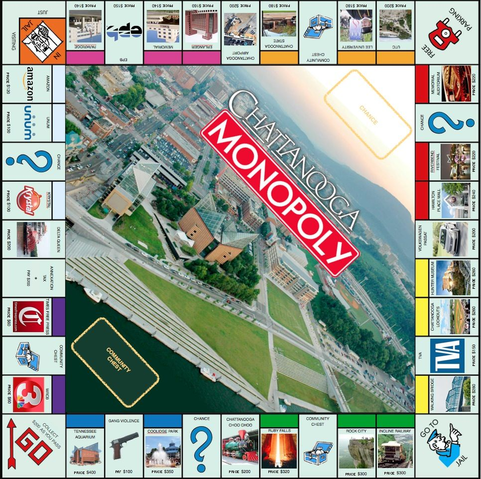 Chattanooga Monopoly - No way! That's pretty specific. Tennessee!