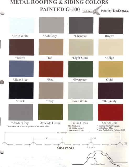 Best Metal Roof Paint Colors Metal Paint Color Samples At 640 x 480