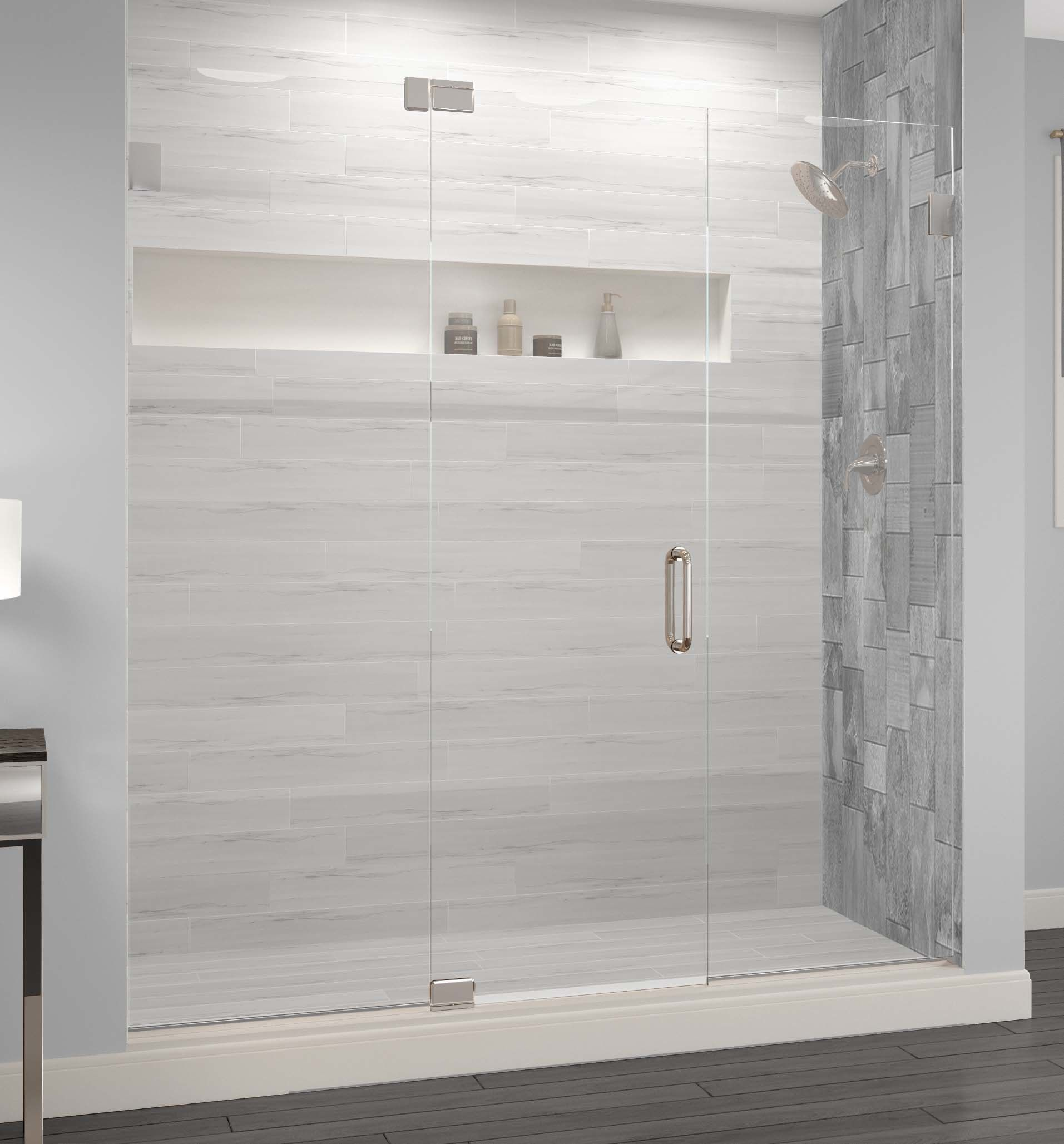 Celesta Frameless 3 8 Inch Glass Panel Swing Door Bathroom Shower Accessories Modern Shower Glass Shower Doors