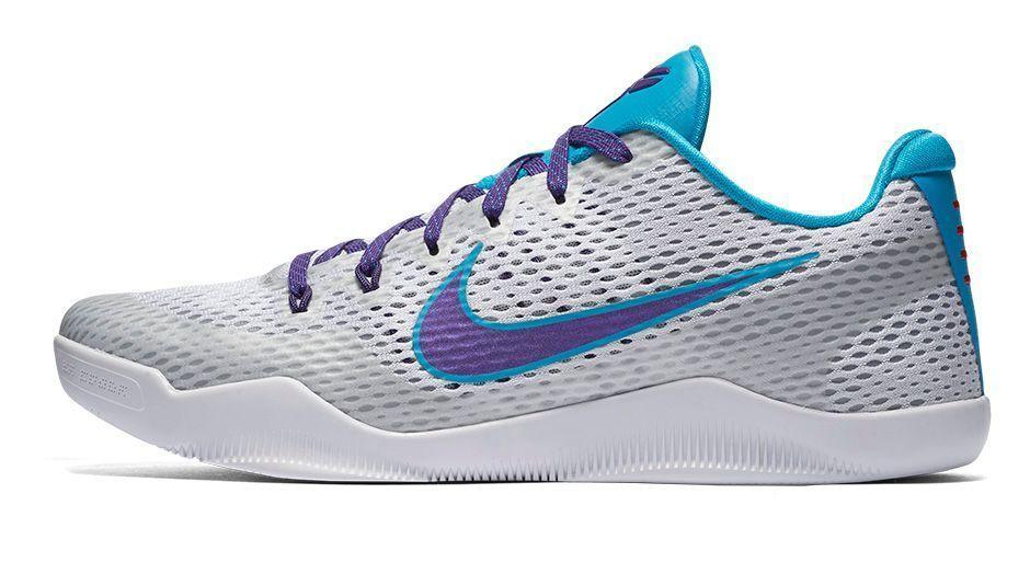 best loved ec7c6 c1aa1 Nike KOBE XI Draft Day Mens Basketball Shoes White Purple Blue Lagoon  836183 154…