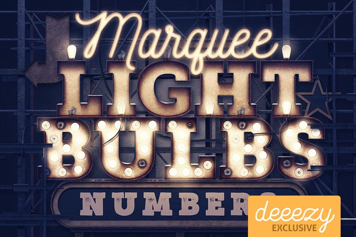 Marquee Light Illustrator » Designtube - Creative Design ...