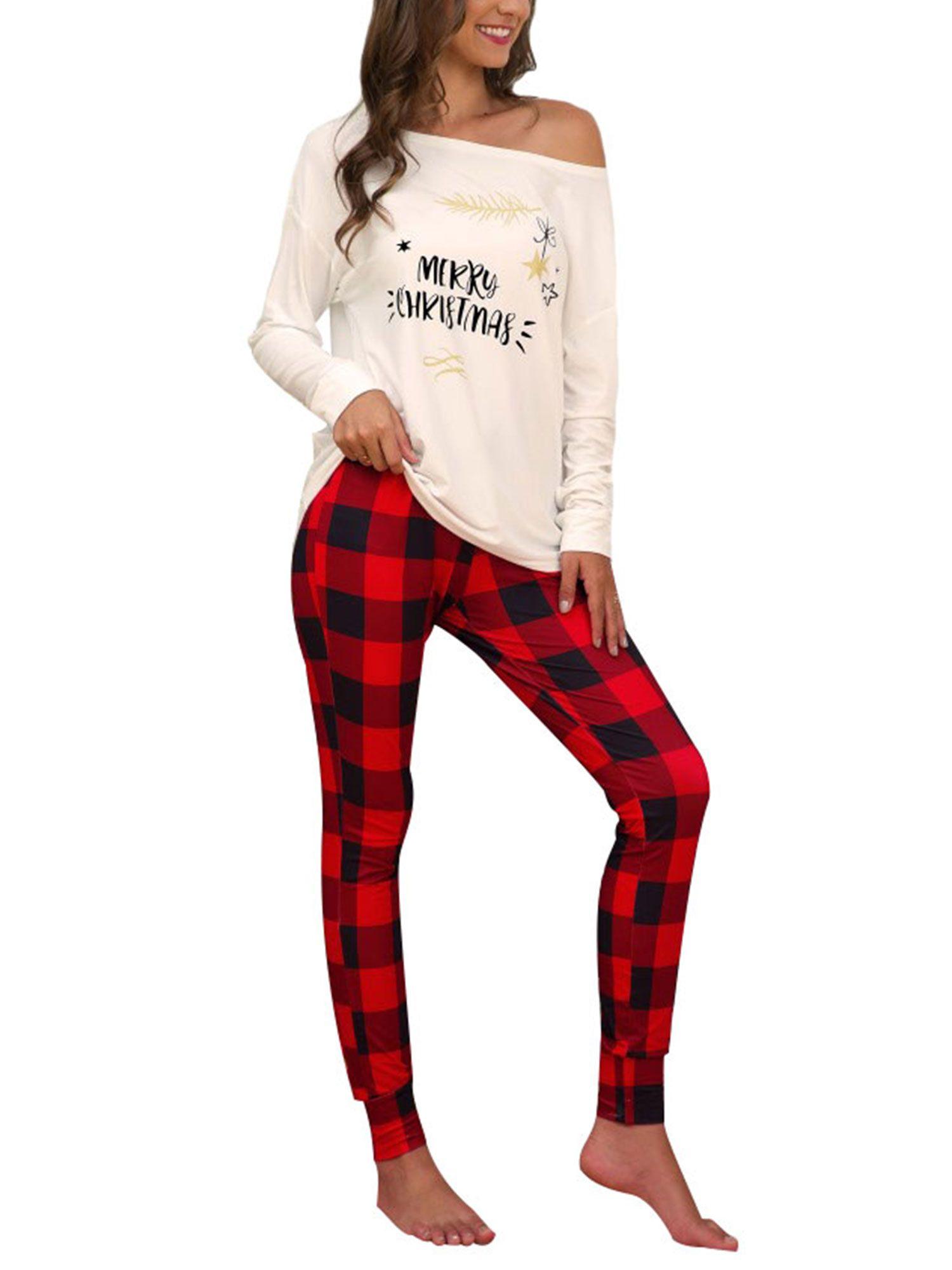 Plus Size Women Christmas Pajamas Nightwear Ladies Girls