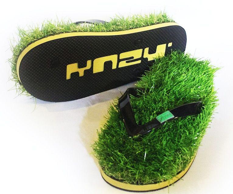 Fake Grass Flip Flops