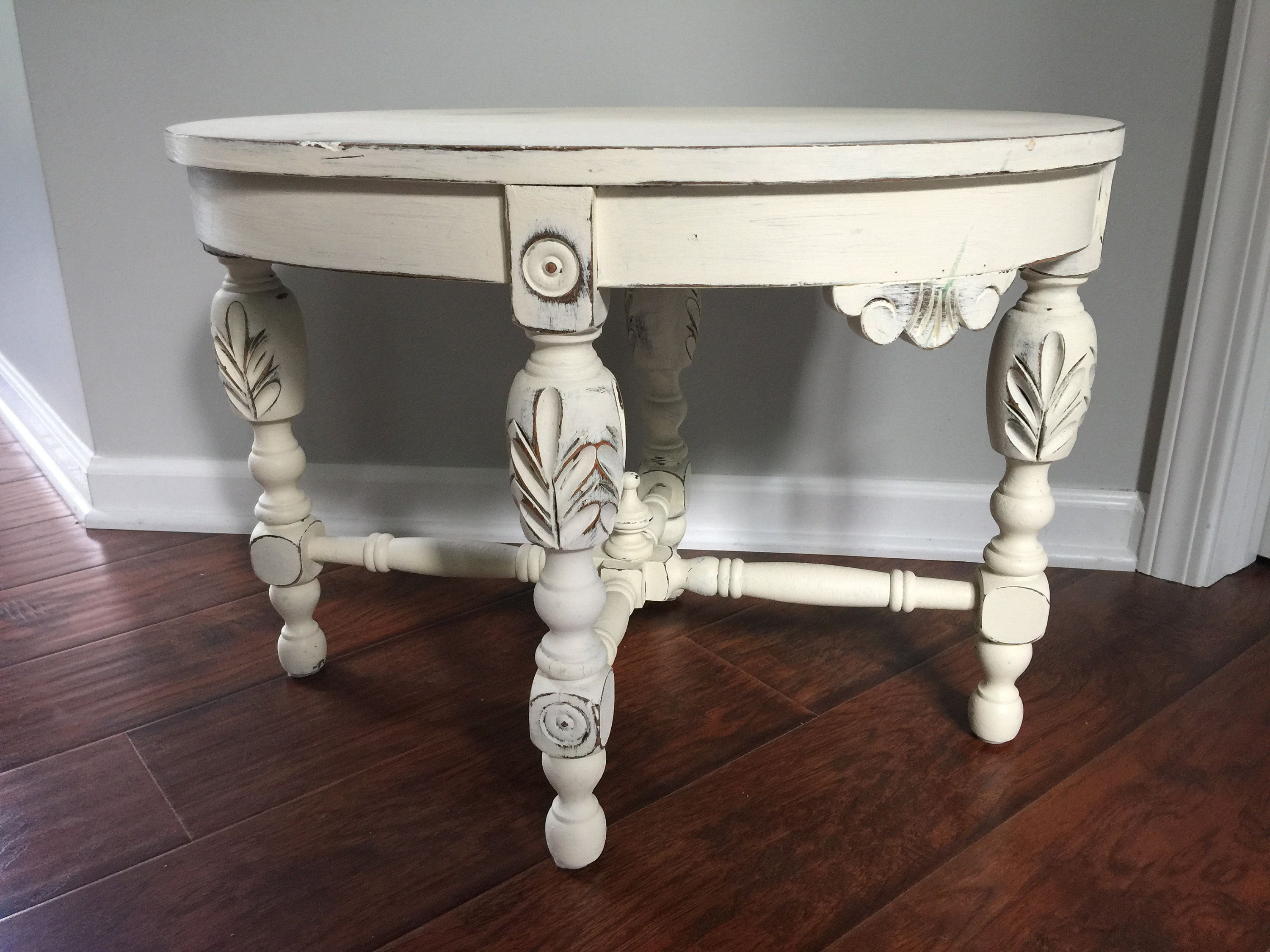 Carved Solid Wood Coffee Table Annie Sloan Off White Chalk Etsy Shabby Chic Furniture Coffee Table Wood Shabby Chic Furniture Painting [ 2250 x 3000 Pixel ]