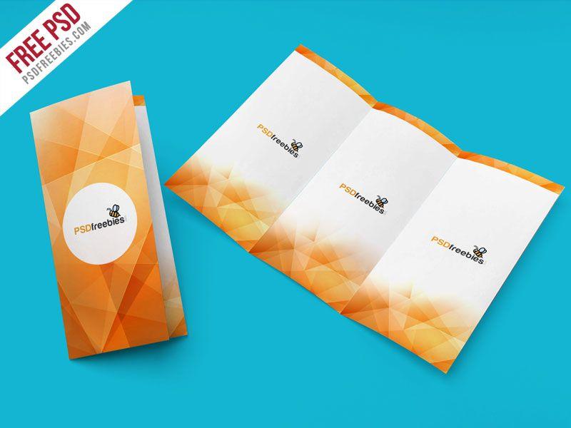 TriFold Brochure Mockup PSD Template Tri Fold Brochure Mockup - Free tri fold brochure template downloads