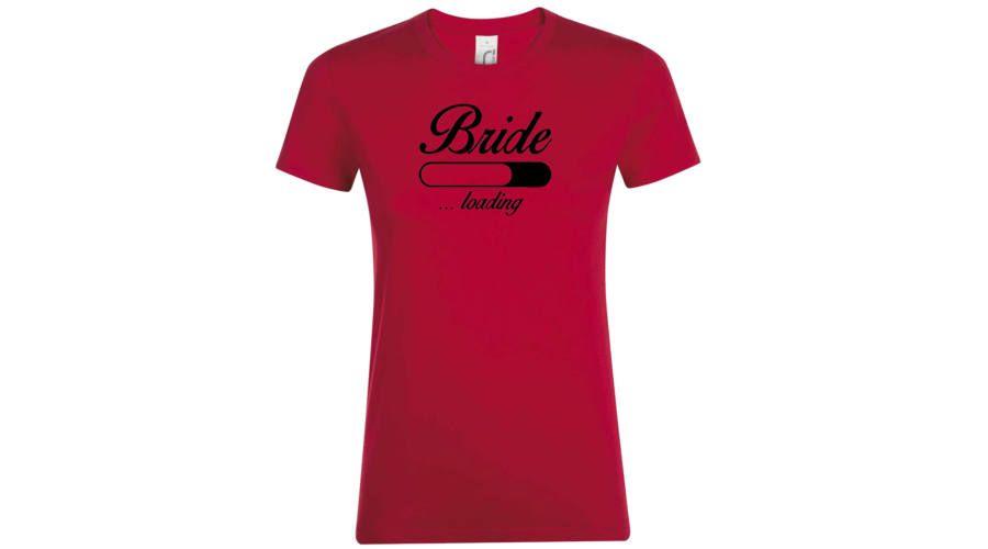 407e6161e6 Bride loading lánybúcsú póló piros | Lánybúcsú pólók | Mens tops, T ...