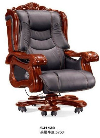 sj1130 deluxe genuine leather president office chair chin kieler