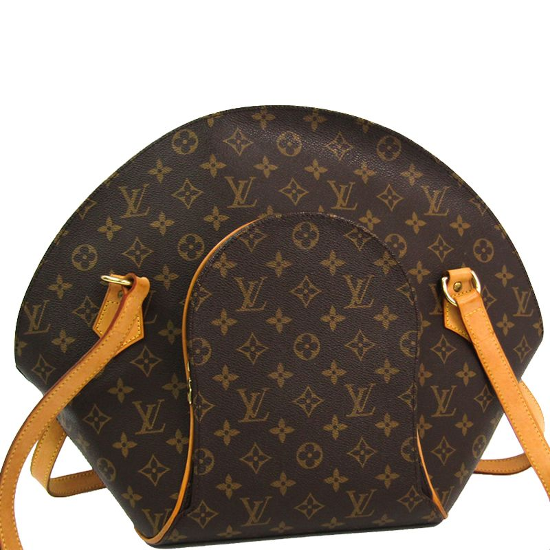 Pre Owned Louis Vuitton Monogram Canvas Ellipse Gm Bag In Brown Modesens Louis Vuitton Monogram Louis Vuitton Monogrammed Canvas Bag