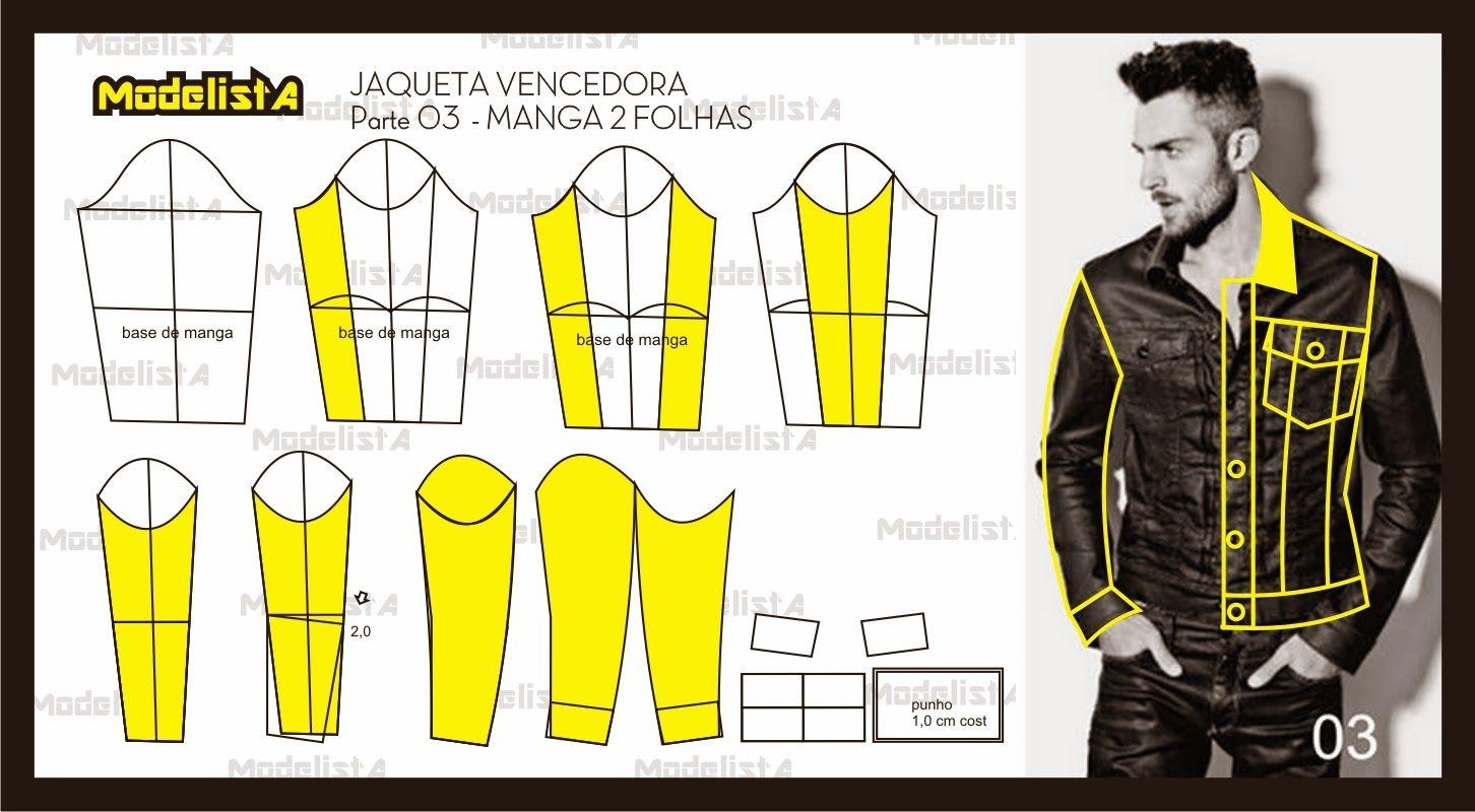 ModelistA: JAQUETA CAMPEÃ DE VOTOS FACEBOOK - MANGA DUAS FOLHAS