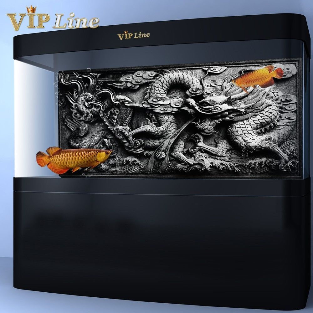 Dragon relief pvc aquarium background poster fish tank for Aquarium background decoration