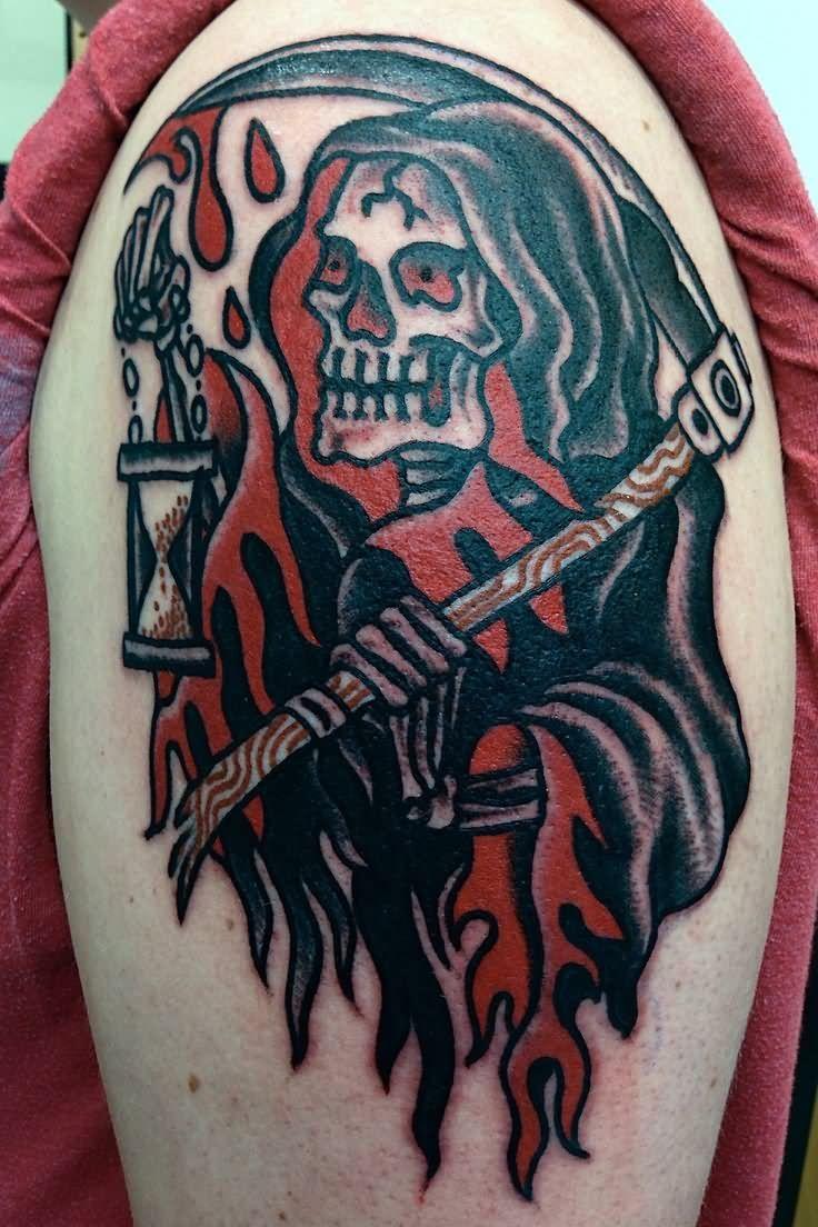 Pin by Jeromy Thiesen on tatlin | Reaper tattoo, Tattoos ...
