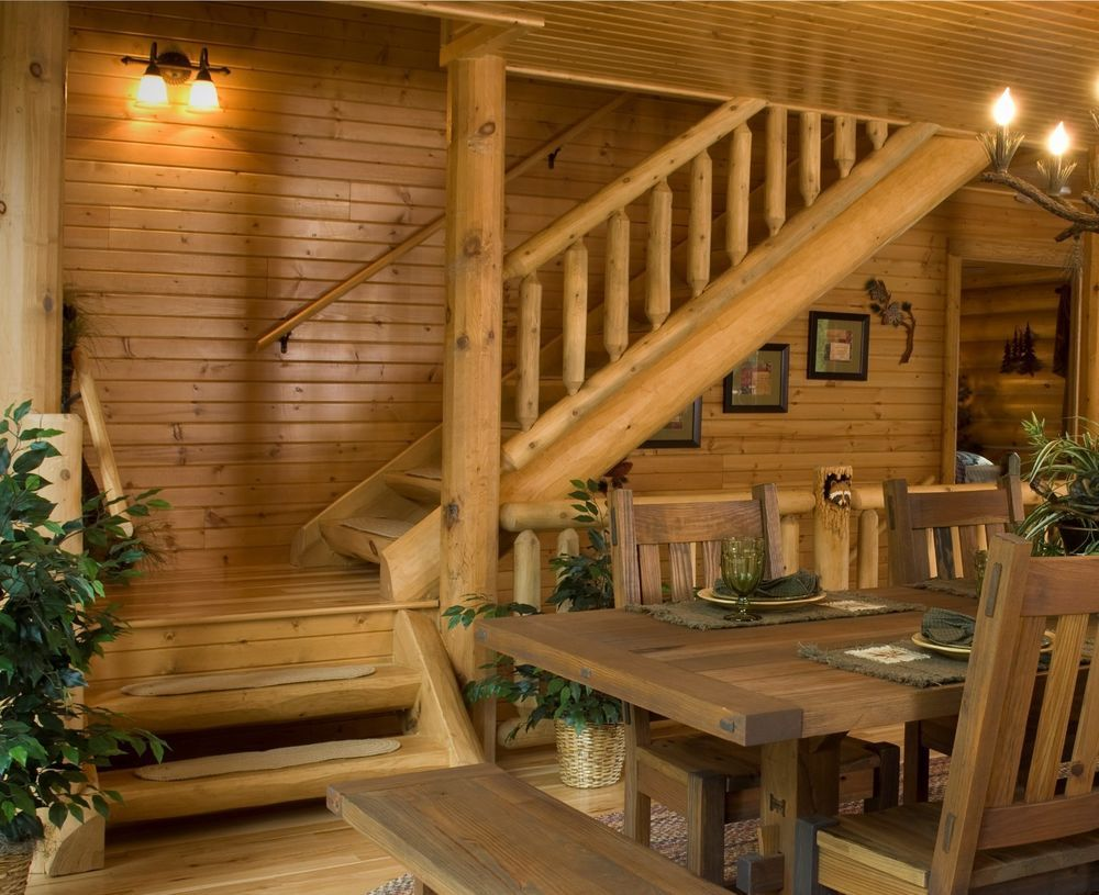 """48"""" Half Log Stairway System includes This kit is based on"""