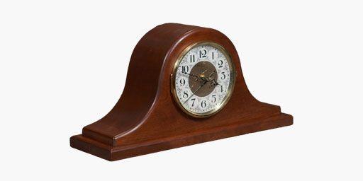 Buck Hollow Cherry Tambour Mantle Clock Solid Wood