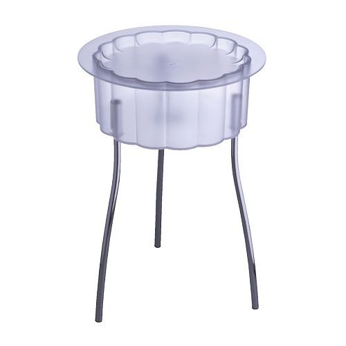 Hattan Side Table (clear)   Nifty For Keys Or Other Things You Need To See!